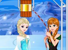 Frozen Elsa Desafio do Balde de Gelo