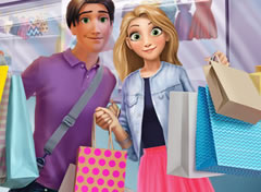 Rapunzel e Flynn no Shopping